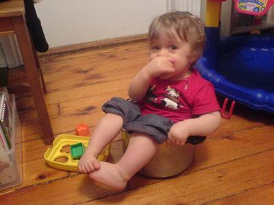 Ronan in a pot